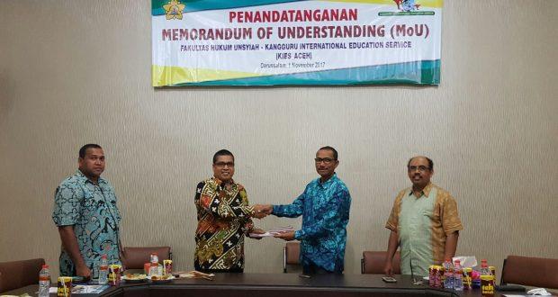 Kerjasama dengan International Class Fakultas Hukum Universitas Syiah Kuala